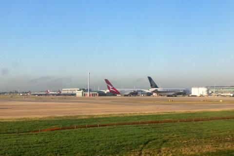 ...Heathrow in the morning...