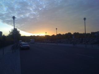 Sonnenuntergang am Holocaust-Mahnmal