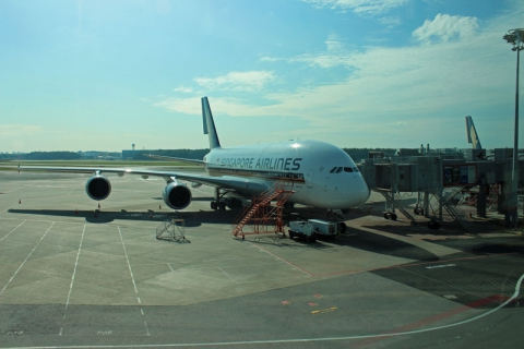 A380 at Changi