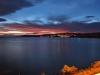 Lake Taupo bei Sonnenuntergang