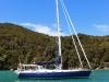 Segeljacht im Abel Tasman National Park