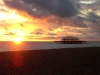 Sonnenuntergang in Brighton